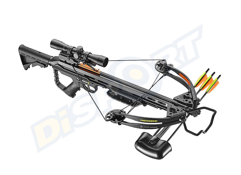 EZ ARCHERY BALESTRA COMPOUND TORPEDO 355fps BLACK 185# CON ACCESSORI