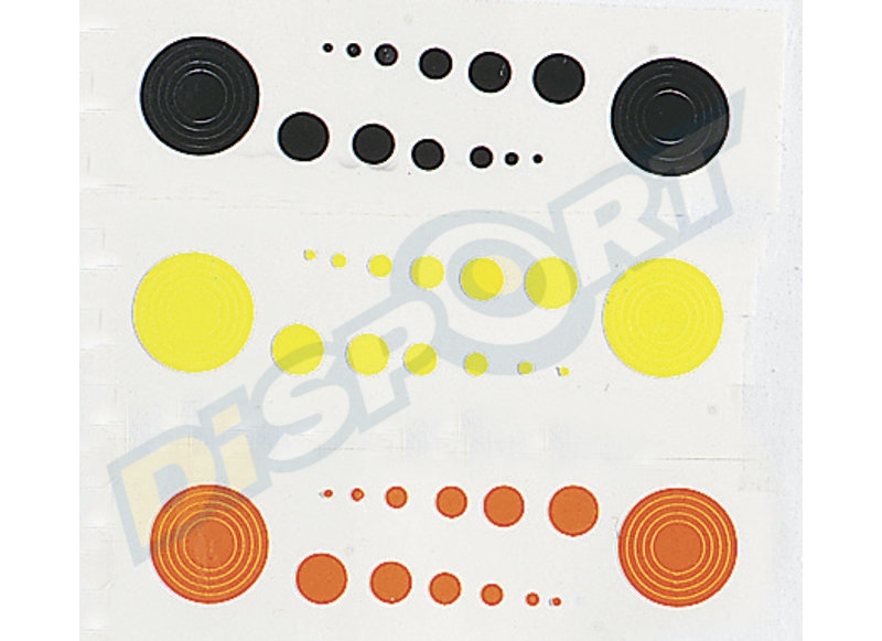 SPECIALTY ARCHERY CARTELLA PUNTI DI MIRA DOT PER SCOPE 36 CERCHI E 42 DOTS