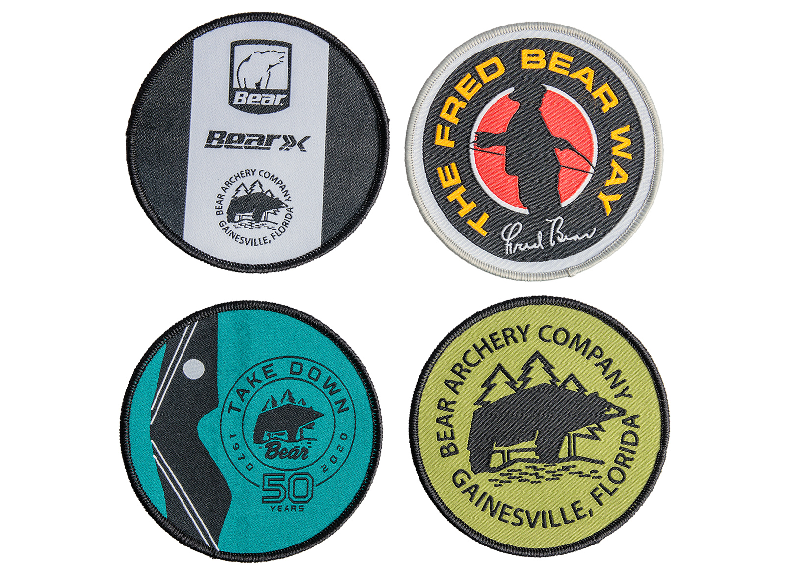 BEAR ARCHERY 4 PATCHES WITH LOGO
