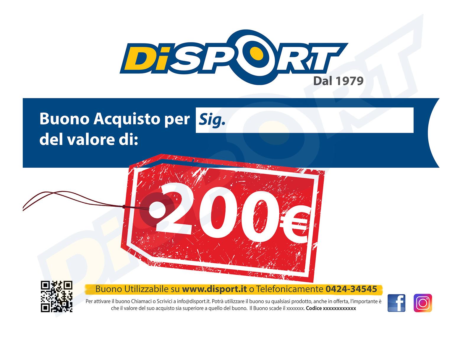 BUONO ACQUISTO 200 EURO