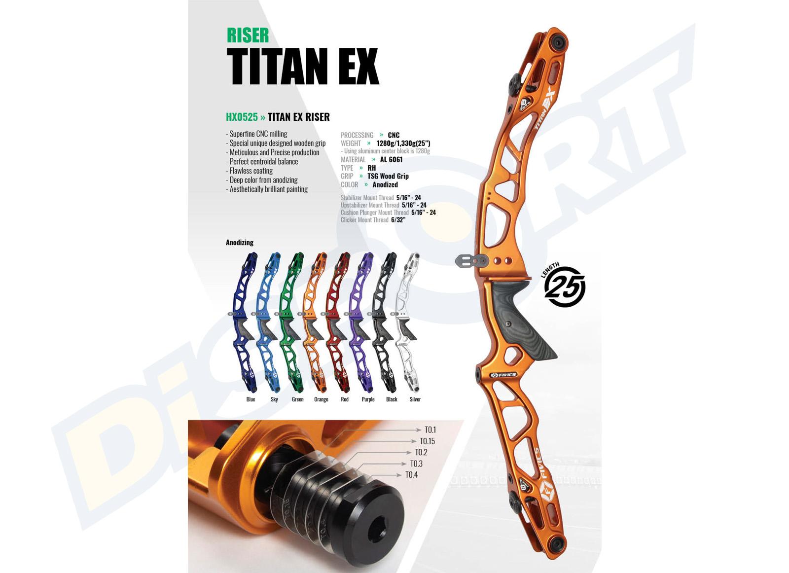 FIVICS RISER TITAN EX 25''