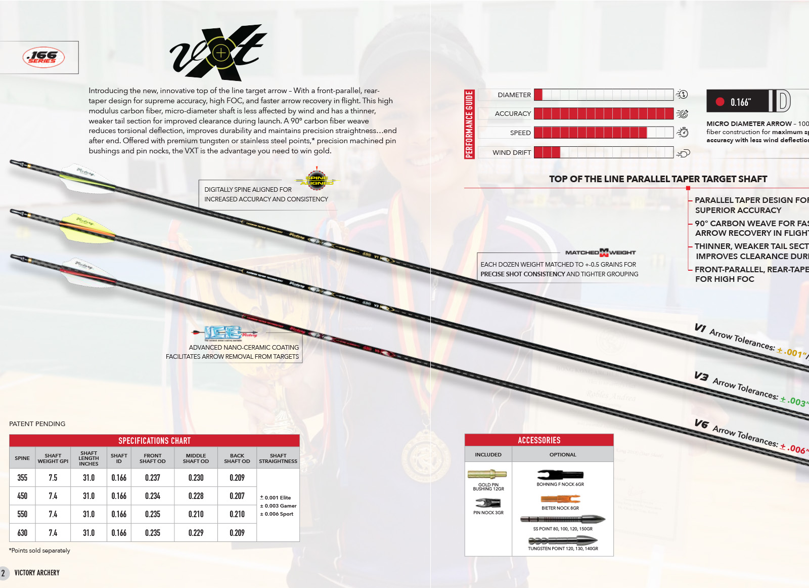 VICTORY ASTA CARBON VXT ELITE V1 TAPER SET 12PZ