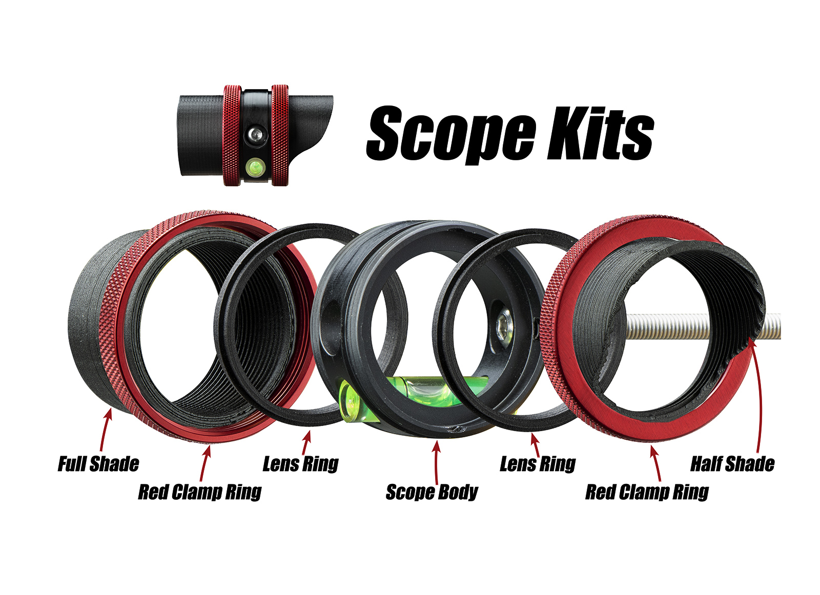 SPECIALTY SCOPE KIT VERSA2 FULL OPTIONAL 1-5/8''