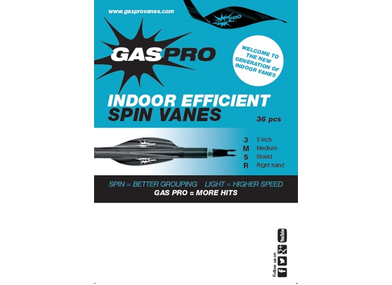 GAS PRO ALETTA VANES SHIELD INDOOR 3''
