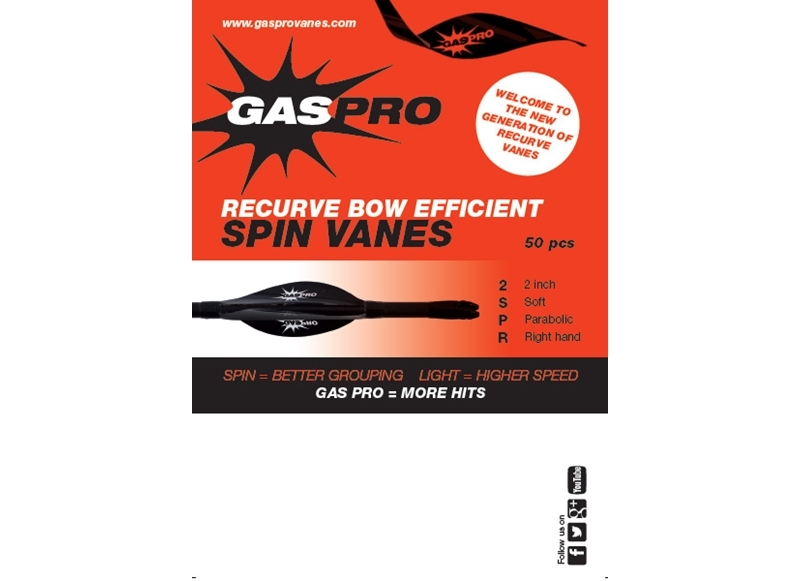 GAS PRO ALETTA VANES SOFT RECURVE BOW 2''