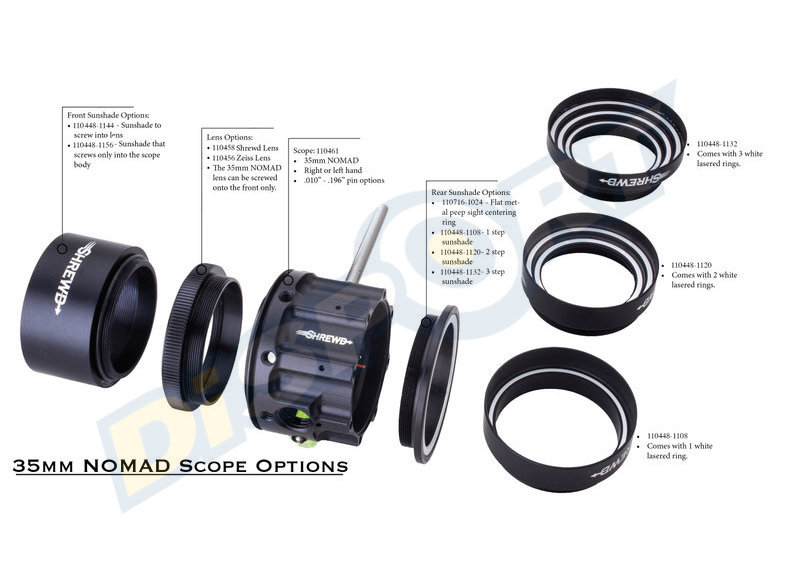 SHREWD PARALUCE PER SCOPE MINI-MAG, NOMAD E ESSENTIAL*