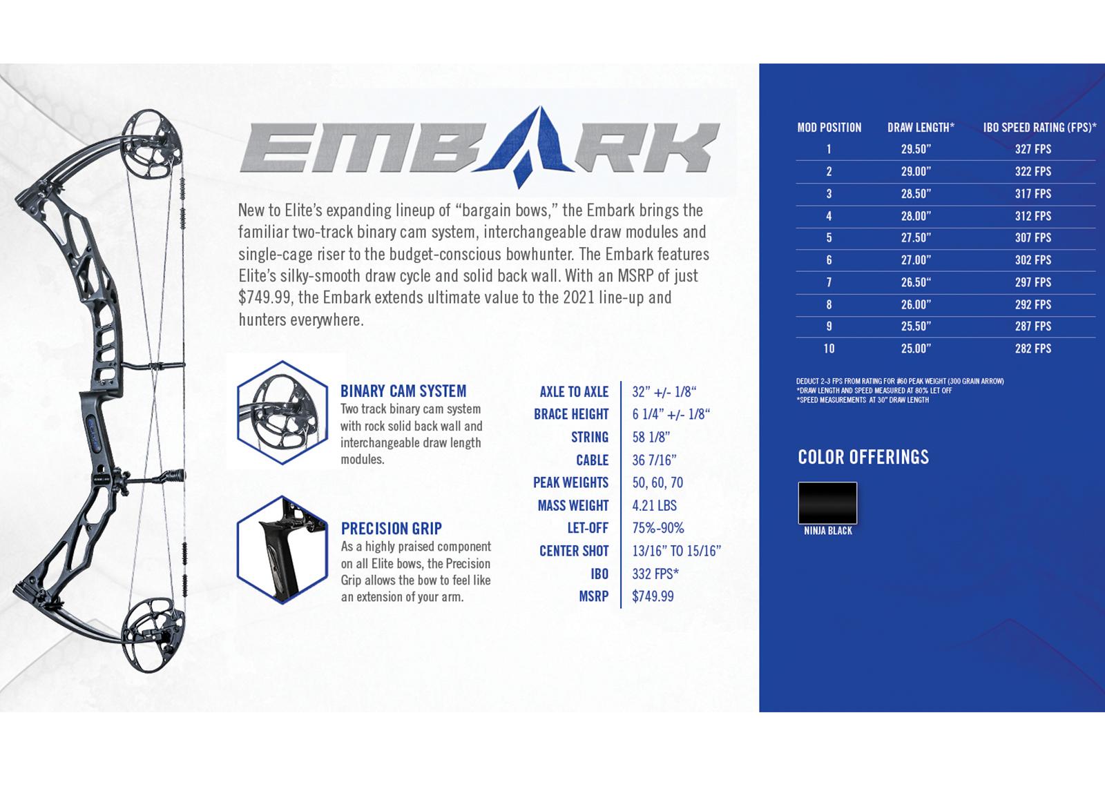 ELITE ARCHERY ARCO COMPOUND EMBARK 32