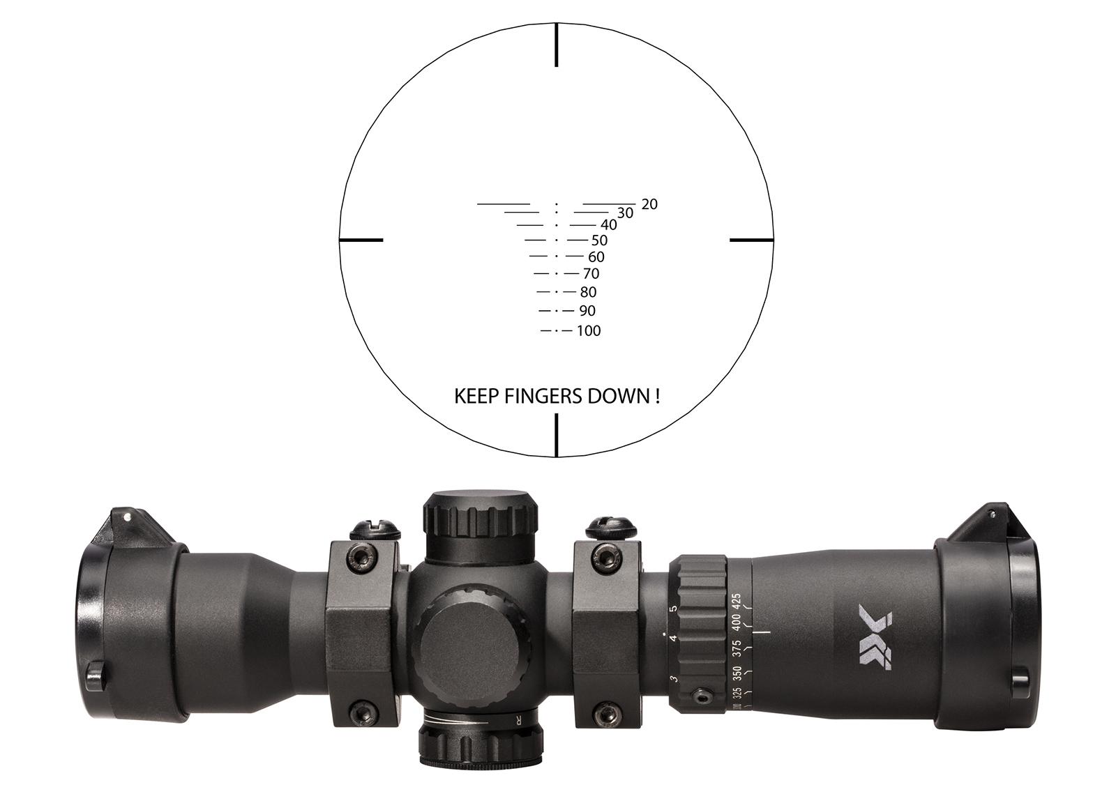 BEAR X CROSSBOW SCOPE SPEEDCOMP 1.5-5x32 RANGING IR