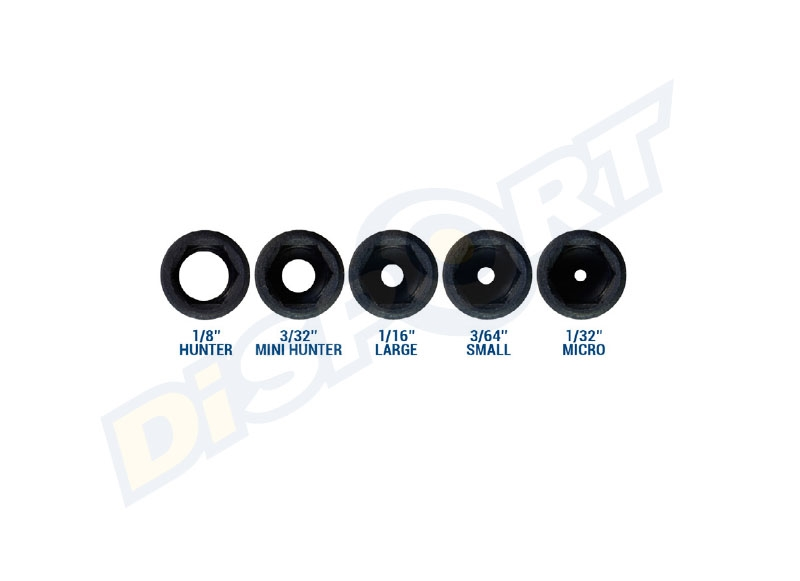 SPECIALITY A. PEEP SIGHT KIT BALL 1/32-3/64-3/32-1/16-1/8