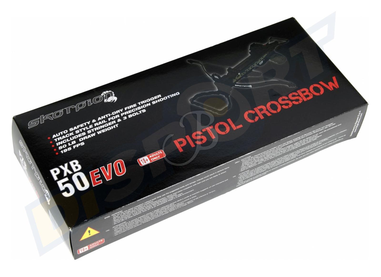 SKORPION PISTOLA BALESTRA PXB50 EVO PACKGAGE COMPLETO